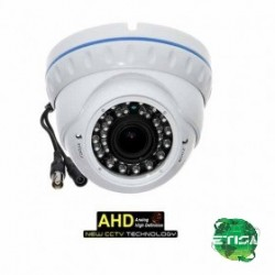 "Dome Camera AHD 720p CMOS 1/4"" 2.8-12mm IR CUT OSD W"